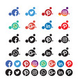 bubble rounded social media icon vector image