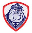 bulldog police dog watchdog vector image vector image