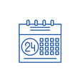 calendar planning system line icon concept vector image vector image