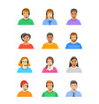 call center customer support operators flat icons vector image