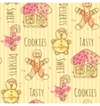 candy Seamless pattern with vector image
