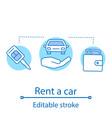 car rental concept icon vector image vector image