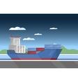 Cargo vessel icon vector image vector image