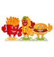 cartoon character fast food vector image vector image