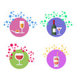 cocktails alcohol beverages set vector image vector image