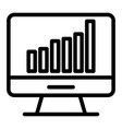 computer chart line icon computer with graph vector image vector image