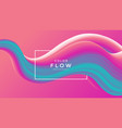 creative design 3d flow shape liquid wave blue vector image