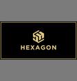 dh hexagon logo vector image vector image