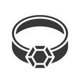 diamond ring jewelry icon glyph style vector image vector image