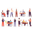 diverse people work office multicultural workers vector image
