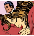 Dream woman man love romance lovers pop art comics vector image vector image