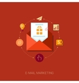 E-mail news letter and publisc relation flat icon vector image vector image