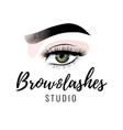 eyebrow and eyelashes studio logo beautiful vector image