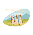 feast three kings religion bible chritianity vector image