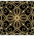 filigree golden ornament tile in art deco style vector image vector image
