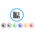 financial epic fail rounded icon vector image vector image