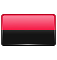 Flags UPA in the form of a magnet on refrigerator vector image