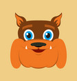 flat icons on theme funny animals bulldog vector image vector image