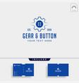 gear button logo line clothes industrial icon vector image