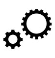 gear icon simple style vector image