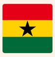 ghana square flag button social media vector image vector image
