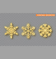 gold christmas decoration set golden glitter vector image vector image