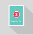 greeting card with christmas ball vector image vector image