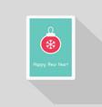 greeting card with christmas ball vector image vector image
