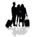 group is ready to travel vector image vector image