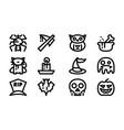 halloween celebration icon template vector image vector image