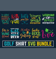 hand written calligraphy golf svg bundle disc gol vector image