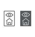 home inspection line and glyph icon real estate vector image