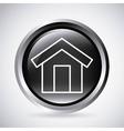 House button Silhouette icon design vector image