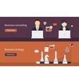 Icons for business strategy vector image