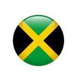 jamaica flag on button vector image