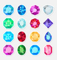 jewels or precious gem stickers set vector image