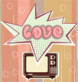 love television vector image vector image