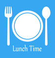 lunch time design menu icon flat editable vector image vector image