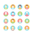 male and female faces avatars flat icons vector image vector image