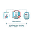 medical books concept icon clinical studies vector image vector image