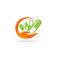 medicine care capsule logo vector image
