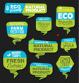 modern eco and natural origami sale stickers and vector image vector image