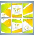 Modern set of brochures flyer booklet cover or vector image