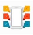 modern smartphone infographics background vector image vector image