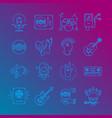music icons rock symbols monochrome vector image