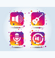 musical elements icon microphone sound speaker vector image vector image