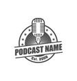 podcast logo design element vector image vector image