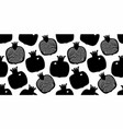 pomegranate seamless pattern hand drawn fruit vector image vector image