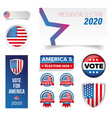 presidential election vote badge set vector image vector image