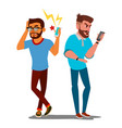 quarrel men office workers characters vector image
